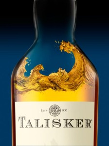Talisker on blue